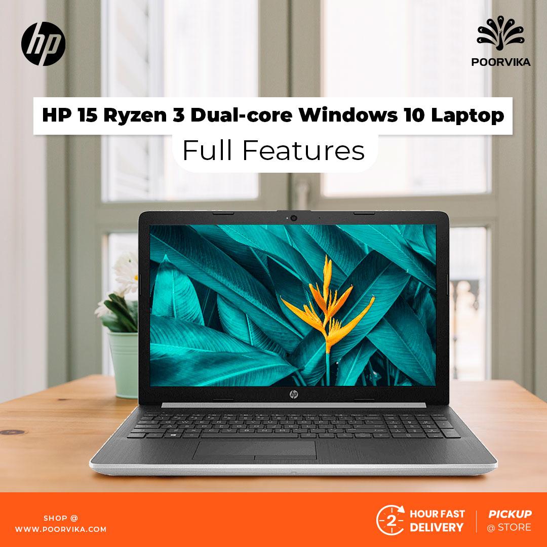 HP-15-Ryzen-3-Dual-core-Windows-10-Laptop---Full-Features