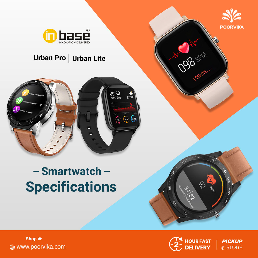 Inbase -Urban-Lite-and-Urban-Pro-Smartwatches-Specifications
