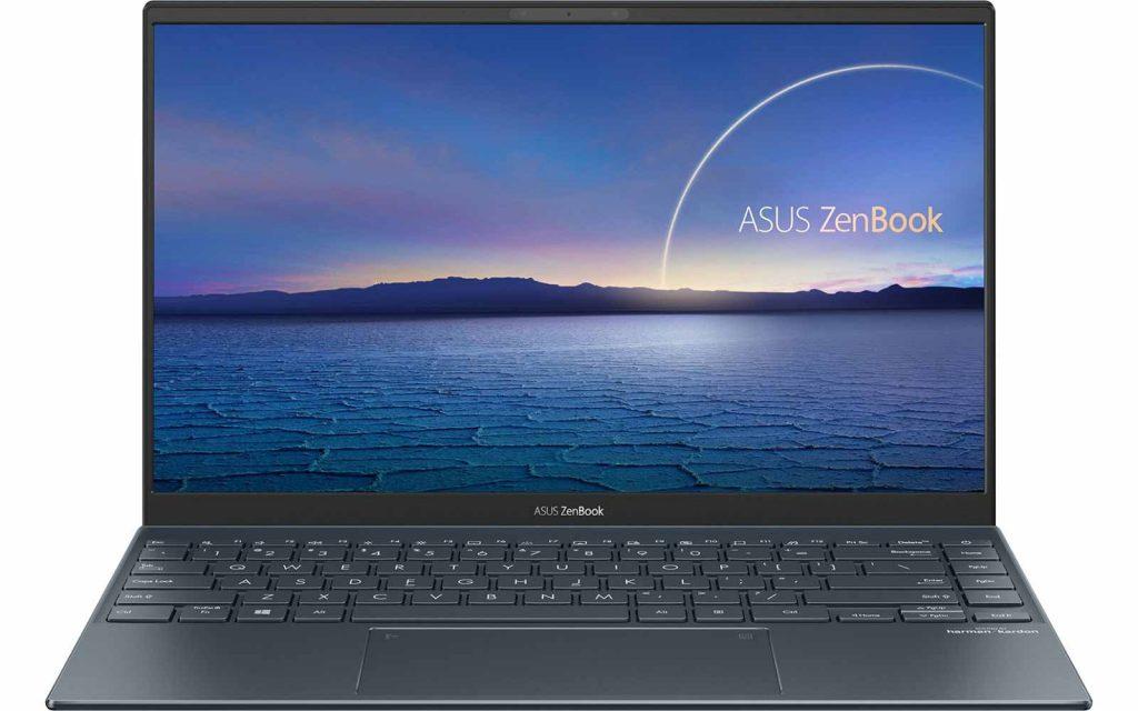 Lock screen of ASUS Zenbook 14 laptop