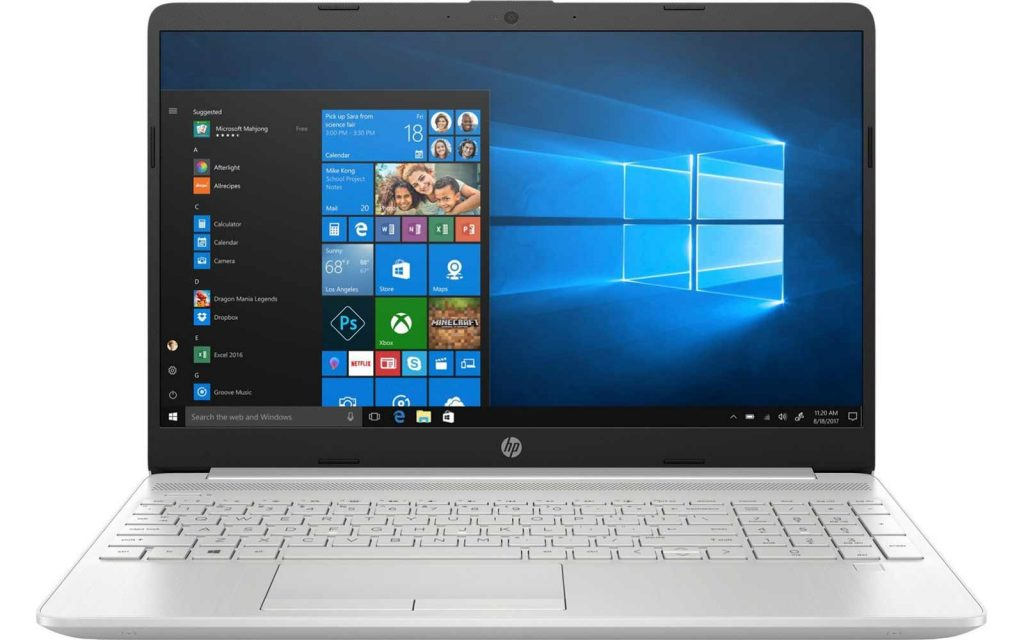 HP 15s Intel Core i5 11th Gen Windows 10 Laptop 15s-du3047TX 8GB RAM 2GB NVIDIA GeForce 1TB HDD + 256GB SSD 15.6 Inch Natural Silver, 1.75 kg