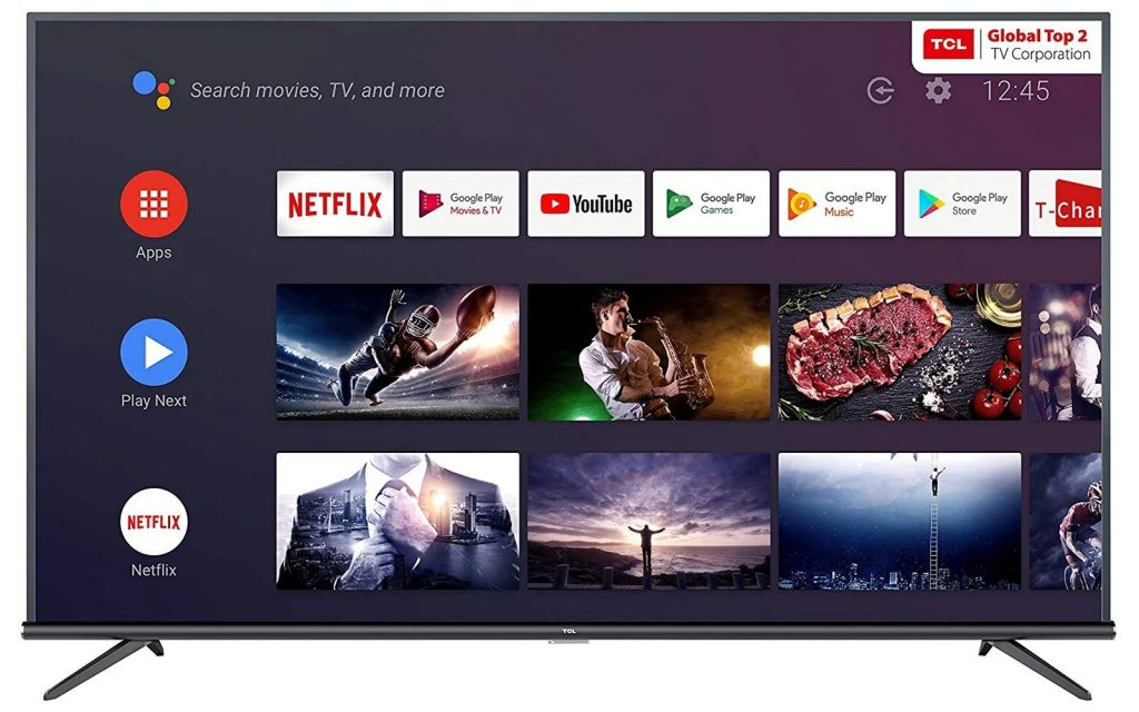 TCL 125.7 cm 50 inch 4K Ultra HD Smart Certified Android LED TV 50P8E