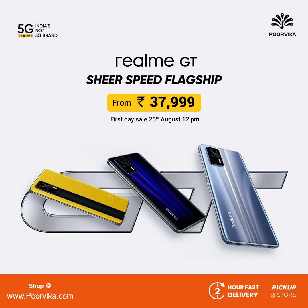 realme gt 5g poorvika price in india